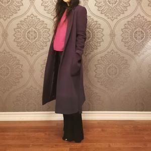 Jigsaw wool wrap coat